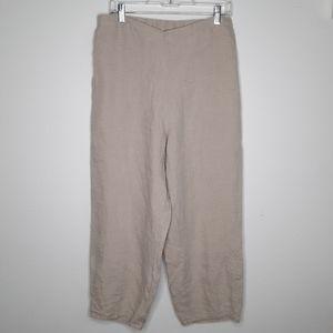 FLAX Linen Capri Cropped Pants